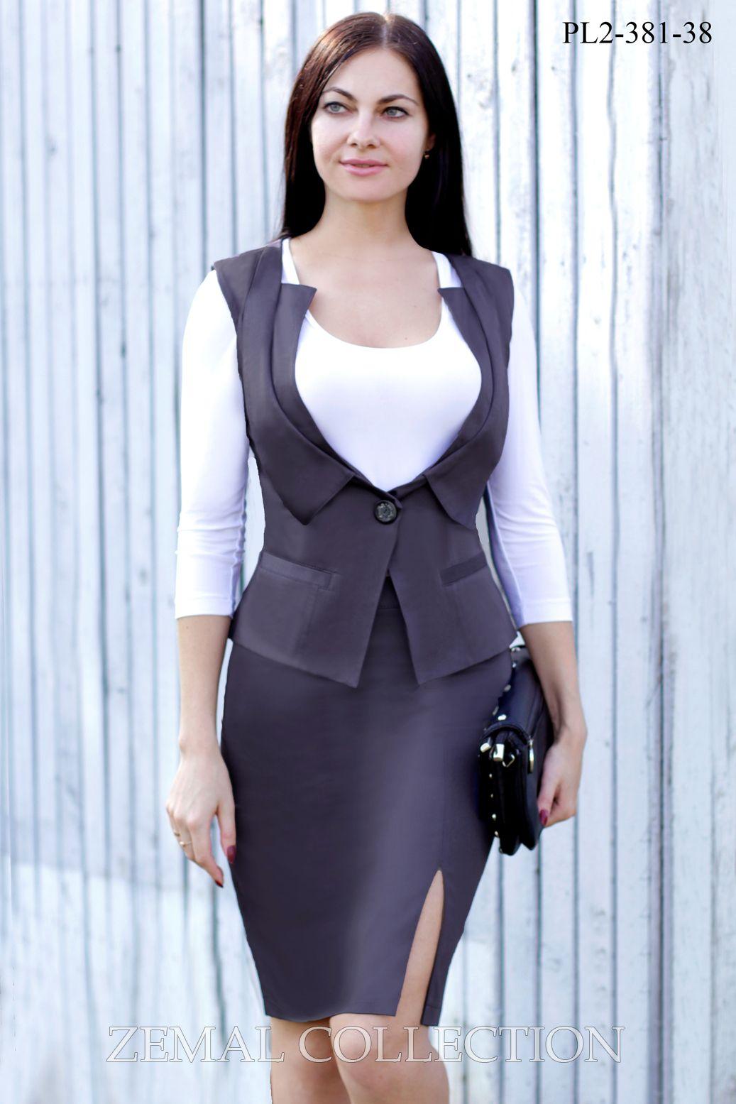 Женский костюм с жилетом