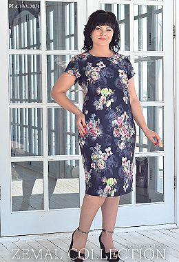 74b367adb7eb53 Купити сукні великих розмірів оптом від виробника «Земал»