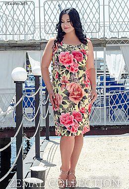 2db8c0d3c437d0 Купити сукні великих розмірів оптом від виробника «Земал»