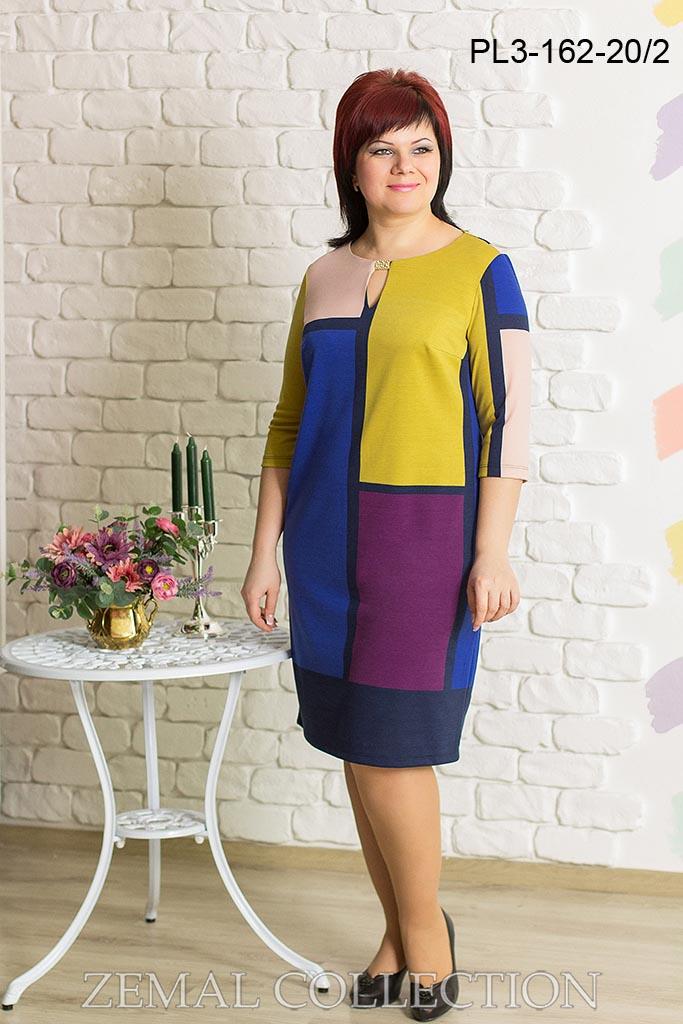 245bf73cd42 Купить платья больших размеров оптом - фабрика Zemal